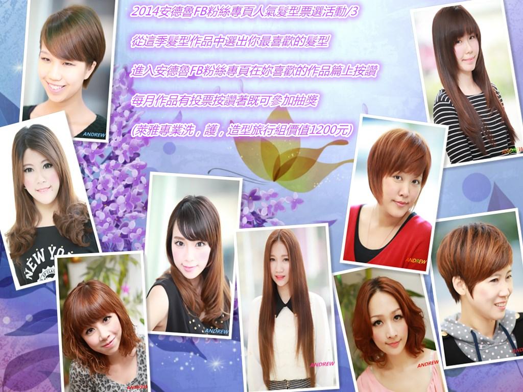 安德魯FB粉絲專頁人氣髮型票選活動: