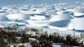 世界十大迷人沙漠:2、被雪覆蓋的沙漠:塔克拉瑪幹沙漠