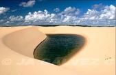 世界十大迷人沙漠:4、擁有藍湖的沙漠:巴西的拉克依斯-馬拉赫塞斯