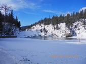 13-03-17(9)班夫國家公園-弓河瀑布:弓河瀑布9難得的雨後天晴,天空藍到令人陶醉.JPG