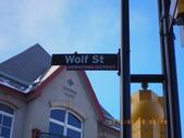 13-03-17(11)班夫小鎮:班夫小鎮16班夫大街,街道名稱都是用動物名稱來命名,這是wolf St狼街.JPG