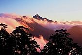 百岳-能高主峰:能高主峰雲瀑_從天池山莊看