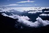 百岳-能高主峰:能高主峰東看雲海