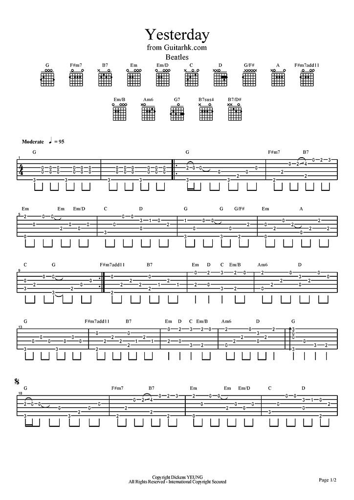 樂譜:Yesterday-page-001.jpg