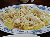 990909蘆竹張家土雞城&野上麵包:鳳梨蝦球~好吃又彈牙的蝦
