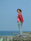 960728東北角一日遊:金沙灣~看起來很高吧!