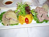 990905天母方家小館~上海名菜:冷盤雙拼~醉雞+肴肉