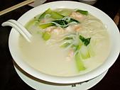 990905天母方家小館~上海名菜:鮮蝦煨麵~湯濃麵夠味~超讚