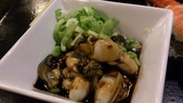 1010413平鎮黑潮魚料理:涼拌鮮蚵~很令人驚豔的菜,燙過再泡冰水,涼拌~好吃,大推