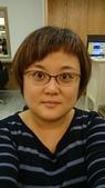 1040228梅友人聚會~燊咖啡:今天的新髮型,簡短了很壓抑的中長髮。