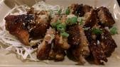 1010413平鎮黑潮魚料理:烤雞腿好吃~但是有點可惜的嗜吃到最後醬汁有點鹹