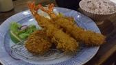 1020525杏子豬排&淡水夕陽:炸豬排(腰內肉)&炸蝦~~肉很軟嫩,蝦很緊實