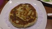 1011018南港餡老滿餃子館~下飛機第一餐:蔥油餅~主要是吃麵香,不是台灣口味的吃蔥香