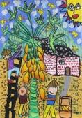 2013-我最喜歡的樹-低年級組獲獎作品:優選_劉兆翔_南投縣僑光國小_爺爺種的木瓜樹.JPG