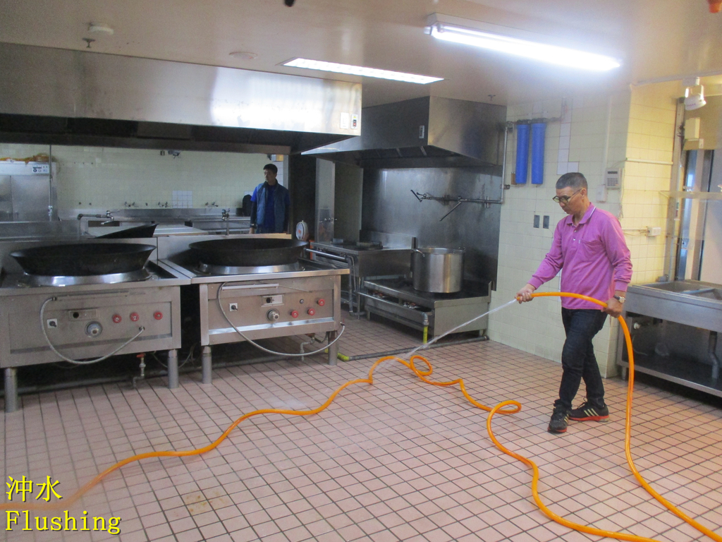 1451 Bank-Employee Restaurant-Quartz Brick Floor A:1451 銀行-員工餐廳-石英磚地面止滑防滑施工工程 - 相片 (21).JPG