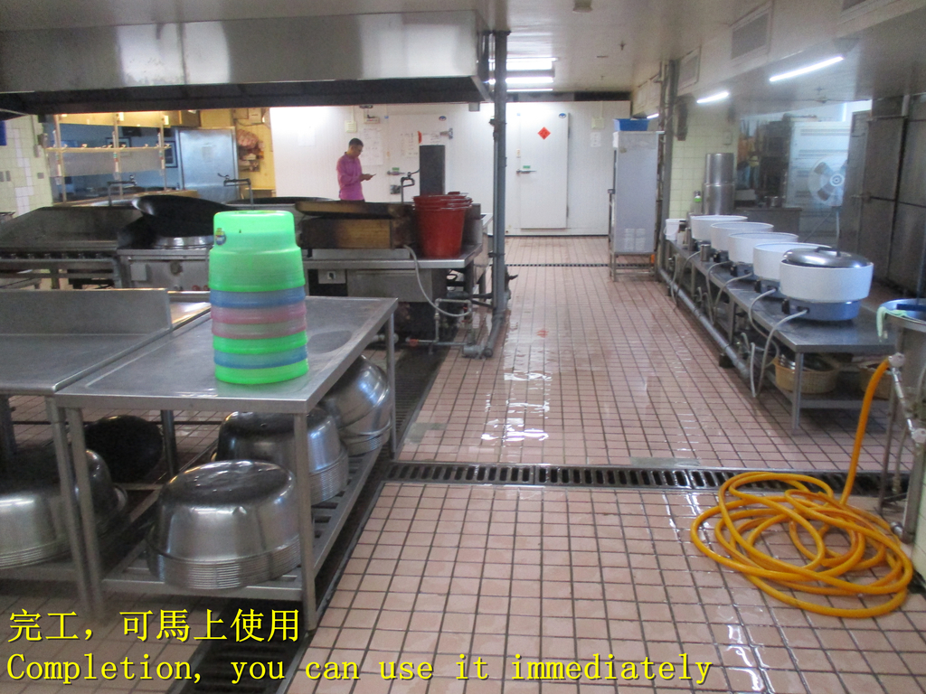 1451 Bank-Employee Restaurant-Quartz Brick Floor A:1451 銀行-員工餐廳-石英磚地面止滑防滑施工工程 - 相片 (23).JPG
