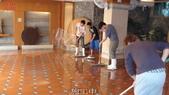 適合防滑止滑施工之場所-溫泉會館地面:7餐廳施工中2-止滑大師Anti- slit Pro創業加盟連鎖止滑液防滑劑止滑防滑專業施工地坪瓷磚浴室防滑止滑