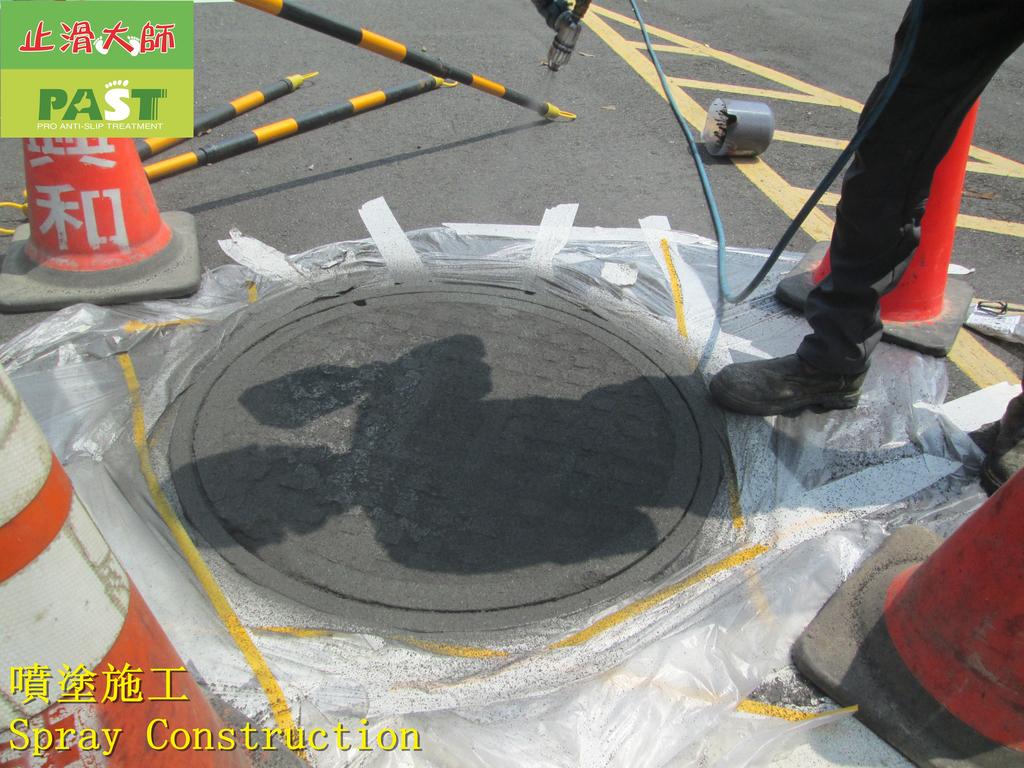 1808 School-Road-Iron Ditch Cover Ceramic Anti-ski:1808 School-Road-Iron Ditch Cover Ceramic Anti-skid Paint Spraying Construction Project - Photo (29).JPG