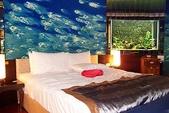 汽車旅館:伊甸風情旅店 - 床邊的水族箱