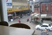 高雄縣旅遊:旗山枝仔冰城 -二樓窗外街景