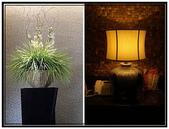 汽車旅館:高雄亞曼尼motel- 景觀盆栽和台燈
