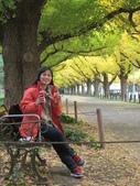 2012-11-25 東京自由行 Day 4 -- 銀杏並木、表參道、明治神宫:11 銀杏下的早餐.JPG