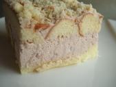 實驗品-花生豆沙餅、草莓酸奶油慕斯、PITA、巧克力塔:蛋糕體用手邊的乳酪蛋糕邊來充當
