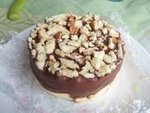 實驗品-花生豆沙餅、草莓酸奶油慕斯、PITA、巧克力塔:蛋糕體一樣是用現成的乳酪蛋糕邊