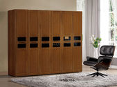 GL-589:590-4  2.6尺實木樟木色衣櫥(雙吊).jpg