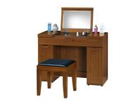 GL-589:590-5 3.3尺實木樟木色掀鏡化妝台.jpg
