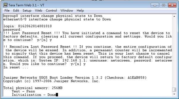 juniper-SSG設定及破解密碼方法@ 個人小筆記:: 隨意窩Xuite日誌
