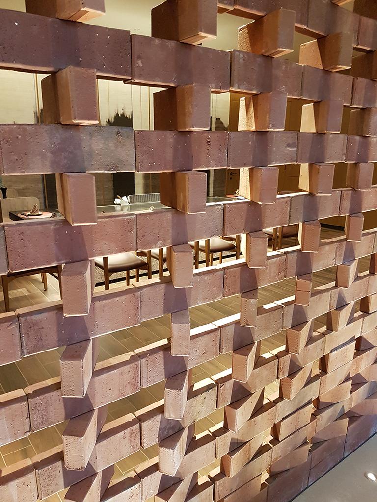 台南大員皇冠假日酒店:煉瓦的磚牆