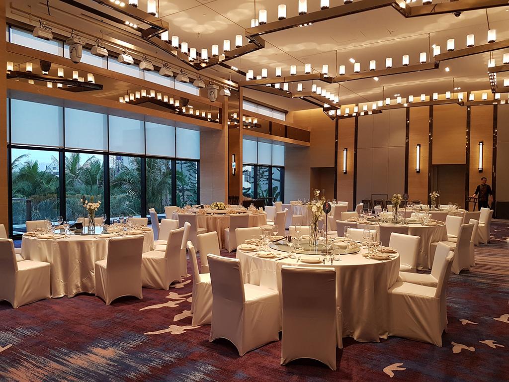 台南大員皇冠假日酒店:宴會廳內部設計