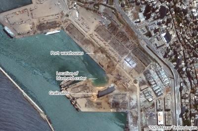 「貝魯特爆炸」黎巴嫩空拍圖說歷劫前後!