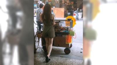 「雞蛋糕正妹」她曝絕美背影,網驚:可以應徵老闆嗎?