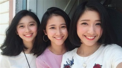 「超正3姊妹」微笑角度都超美,網友:神基因!