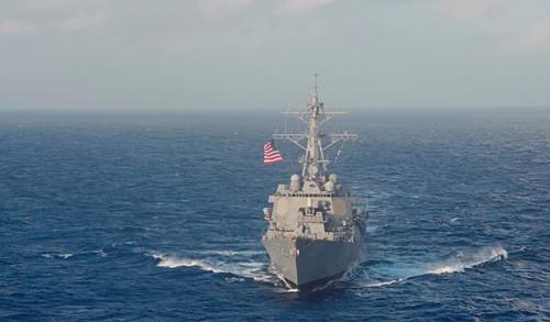 「美軍戰艦南沙巡航」預計24小時內進入島礁12海裡範圍內