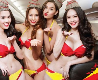 「比基尼航空」越南女首富打造空姐就是要正!
