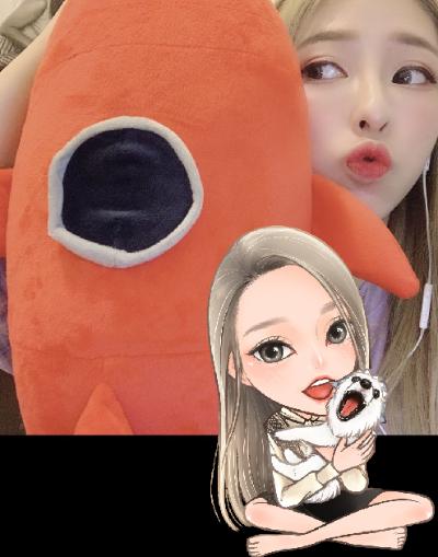 「大火箭娃娃」網紅正妹藍藍 Elena收到直播平台禮物!