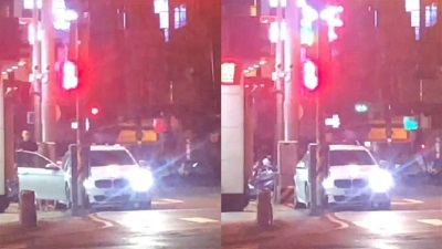 「台中活春宮」民眾當街看到BMW男頂撞酒店妹,老婆氣噗噗陪到案!