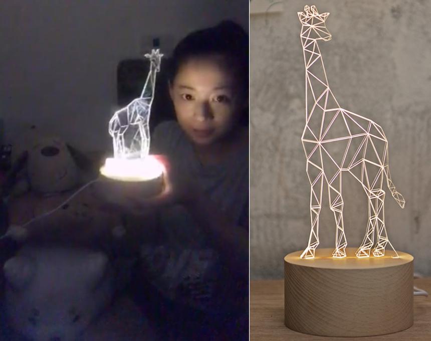「龍鳳腿小公主」喜歡3D長頸鹿小檯燈,瑞芳阿義龍鳳腿創始店老闆女兒