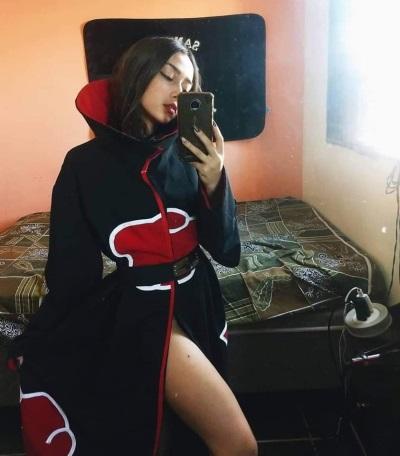 「最惹火反派美女」一身cosplay曉服裝,可愛模樣眾人喜愛