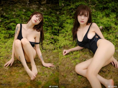 「正妹實況主夏美醬」電玩爆乳連身泳衣包不住,網友:穿這樣打LoL可以嗎!