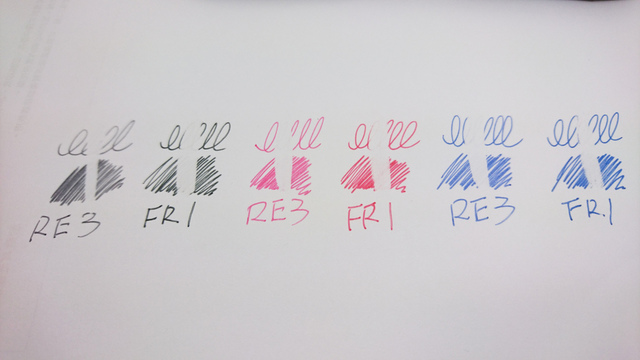 DSC_1313.JPG - uni R:E3摩樂筆 & PILOT FRIXION BALL3摩擦筆