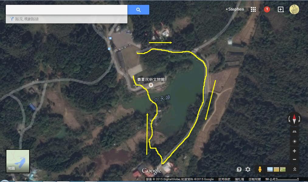 苗栗南庄向天湖 2015/04/03:苗栗南庄向天湖 Map.jpg