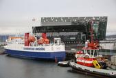 格陵蘭(1):Day 2 (9/10) 下午從雷克雅未克的旅館搭巴士登船,站在甲板上四望。