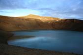 Grenevik(草屋)- Godafoss(上帝瀑布)-Mývatn (米湖) :傍晚時分,到Krafla火山附近的Viti火山口湖