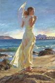 俄羅斯油畫家弗拉基米爾·沃列戈夫的女性作品:俄羅斯美女21.jpg