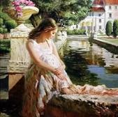 俄羅斯油畫家弗拉基米爾·沃列戈夫的女性作品:俄羅斯美女05.jpg