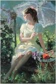 俄羅斯油畫家弗拉基米爾·沃列戈夫的女性作品:俄羅斯美女03.jpg